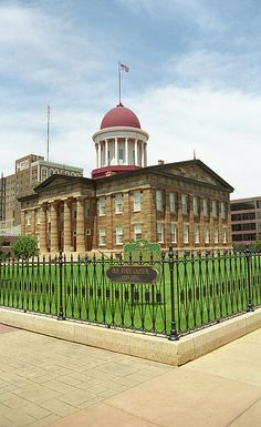 Springfield, Illinois - Old State Capitol. Built in 1837, the site where both Abraham Lincoln and Barack Obama announced their candidacies for president. Springfield is also a popular destination along old Route 66.