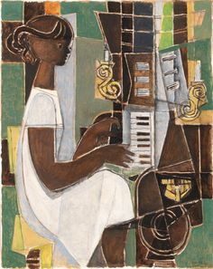 Girl Playing Piano, Georges Dayez. French (1907 - 1991) - Pinterest