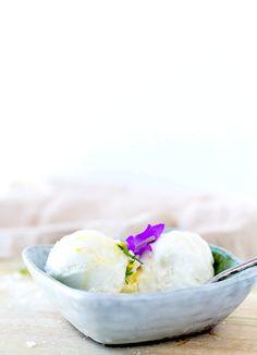 Salty Honey Coconut Milk Ice Cream {dairy-free}