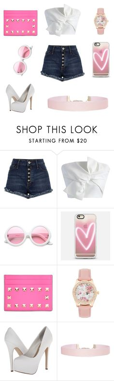 """""""Pop of color"""" by fairytales22 ❤ liked on Polyvore featuring River Island, Chicwish, ZeroUV, Casetify, Valentino, Steve Madden and Humble Chic"""