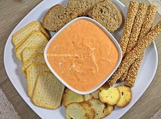 Episode - Choose Your Story A Food, Good Food, Food And Drink, Greek Recipes, Dip Recipes, Roasted Peppers, Appetizer Dips, Party Snacks, Freezer Meals