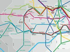Los mapas de metro: ¿cómo moverse por la vía láctea o viajar por Pamplona? | CuatroTipos