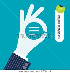 Stock Images similar to ID 216111286 - vector two hands with bolt and...