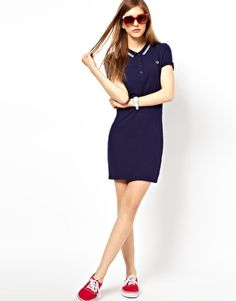 Enlarge Fred Perry Twin Tipped Polo Shirt Dress