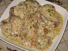 До чего же это вкусно! Куриная печень в орехово-чесночном соусе!