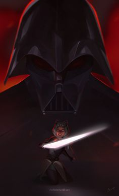 This is one of the most amazing and powerful fanarts of Vader and Ahsoka. I love it so much.