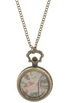 London Traveler Timepiece Necklace