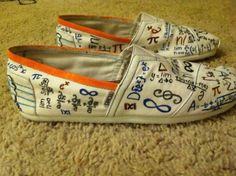 Math Shoes I painted also! LOVE these.