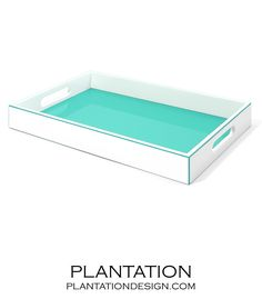 Alana Lacquer Tray | Turquoise $125