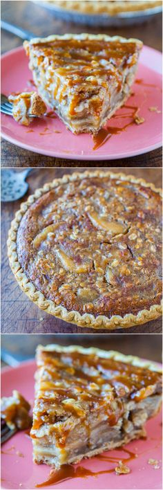 Caramel Apple Crumble Pie - Apple pie meets apple crumble with loads of caramel! The easiest apple pie you'll ever make. 5-minute recipe if you use pre-made ingredients, or spend a little extra time and go all homemade.
