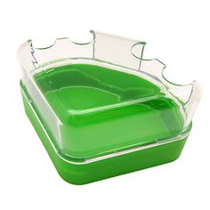AmazonSmile : Alfie Pet by Petoga Couture - Small Animal Deux Bathroom House with Scoop set for Mouse, Chinchilla, Rat, Gerbil and Dwarf Hamster - Color Green : Pet Supplies Hamster Stuff, Gerbil, Chinchilla, Dwarf, Rats, Pet Supplies, Couture, Bathroom, Green