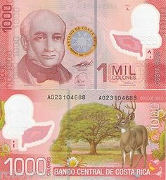 Costa Rica Money, Pretty Pink Bank Note