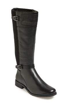 'Chelsea' Sweater Knit Shaft Riding Boot (Women)(Wide Calf)