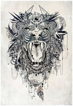 Lion by Feline Zegers Get tradition and stylish look with Maori tattoos. Browse and select best Maori tattoo designs according to your personality. Lion Tattoo Design, Tattoo Designs, Lion Design, Future Tattoos, New Tattoos, Thigh Tattoos, Tatoos, Urban Tattoos, Tattoos Skull