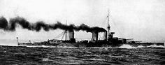 Flagship of the WW1 British battlecruiser fleet HMS Lion at 27 knots in 1916 - forever associated with Admiral Beatty, she was present at the battles of Heligoland Bight in 1914, Dogger Bank in 1915 and Jutland in 1916, suffering serious damage in both the latter engagements.
