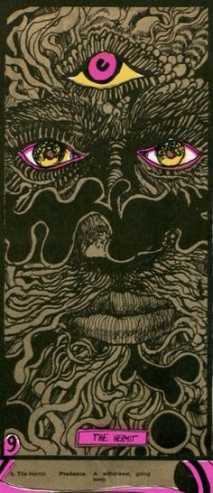 Martin Sharp's psychedelic tarot cards from 1967 -- If you love Tarot, visit me at www.WhiteRabbitTarot.com