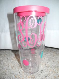 Monogrammed Tervis Tumbler 24oz by SweetSassyAndClassy on Etsy, $25.00