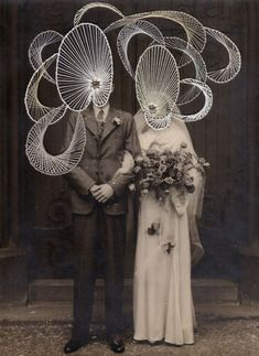 Maurizio Anzeri - I will be with you the night of your wedding - Contemporary Art Saatchi Gallery, Galerie Saatchi, Atelier D Art, Photo D Art, Art Textile, Altered Images, A Level Art, Vintage Photographs, Vintage Photos
