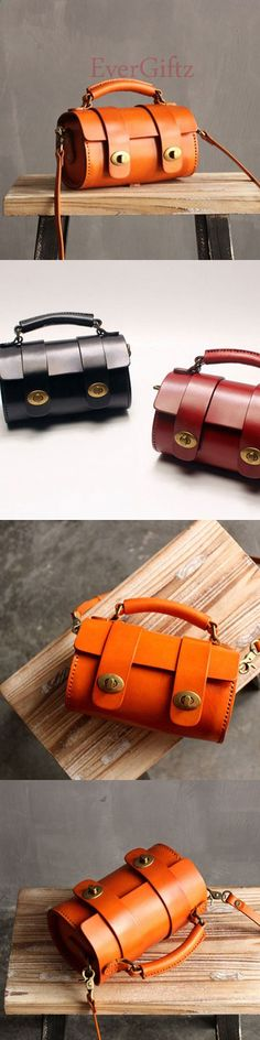 Handmade leather vintage women handbag shoulder bag crossbody bag