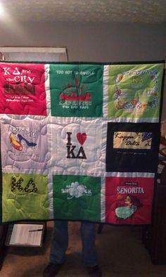 Kappa Delta quilt out of all the old shirts. omg have to do this one day ughhhh