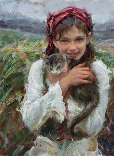 "Yes! An Artist Who Holds Nothing Back. ""Holding Her Close"" by Daniel Gerhartz, featured in a Q&A at ArtistsNetwork.com. #portraits #painting #art #artists"