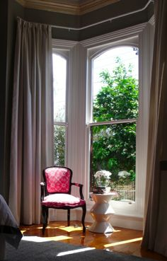 1000 images about my interior design on pinterest for Floor to ceiling bay window