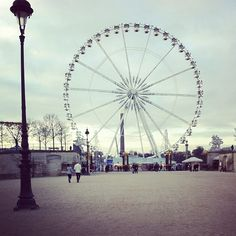 10. Ferris Wheel. In the winter the Ferris Wheel sits prominently at the bottom of the Champs Elysees (and during the summer months there is one in the Tuileries.) Hop on for a ride and a 360 degree view of the city.