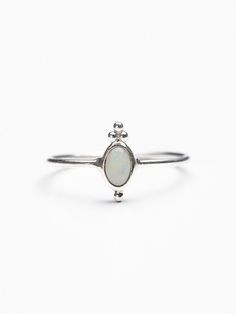 My birthstone, I'm addicted to opals! Free People Nemesis Ring, $48.00