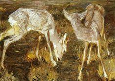 lionofchaeronea:  Deer at Dusk, Franz Marc, 1909