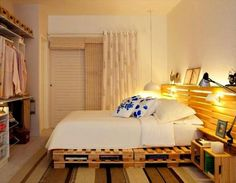 upcycled-pallet-bed-with-lighted-headboard.jpg (720×561)