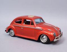 Bandai-Japanese-Battery-Operated-Volkswagen-Sedan-Gear-Shift-5-Action-Car-Toy