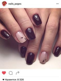 Very subtle one nail nail art