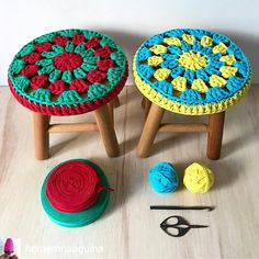 Happy evening end I returned home shopping. Friends bitmiyoooor lar They have made an endless list. Of course, I threw away th Stool Cover Crochet, Crochet Table Runner Pattern, Crochet Mandala Pattern, Crochet Diagram, Crochet Doilies, Crochet Patterns, Crochet Round, Crochet Home, Love Crochet