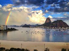 Sugar Loaf and Guanabara Bay seen from Botafogo Beach