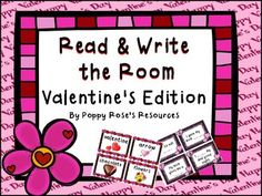 Valentine's Day Read and Write The Room Classroom Games, Daily 5, Word Work, Creative Crafts, Spy, Teaching Resources, Curriculum, Literacy, Valentines Day