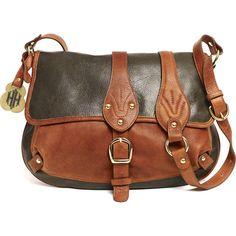 Barnard Crossbody, Olive/Whiskey - Hayden-Harnett Handbags