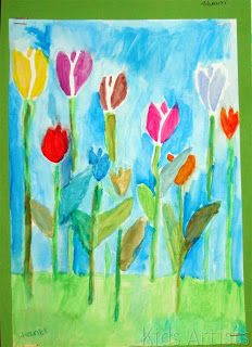 Pick a bunch of tulips and paint it!