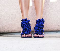 DIY ~ Blue Ruffle Shoes ~ Removable ruffles for your sandals heels, flats, wedges, pumps, stilettos! 27 Life Hacks, Stilettos, Pumps, Shoes Heels, Shoe Makeover, Blue Wedding Shoes, Bridal Shoes, Wedding Colors, Hacks Every Girl Should Know