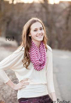 Chevron infinity scarf for $4.99 today. Lots of colors, too!