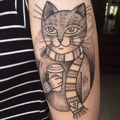 Cat tattoo by Susanne König