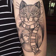 Cat tattoo by Susanne König