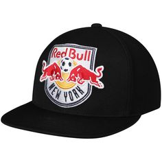 05552c69d8a Men s New York Red Bulls Mitchell   Ness Black Cropped XL Snapback  Adjustable Hat