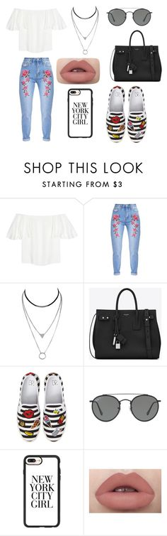 """""""nycg"""" by inae-leigh on Polyvore featuring moda, Valentino, Yves Saint Laurent, BP., Ray-Ban e Casetify"""