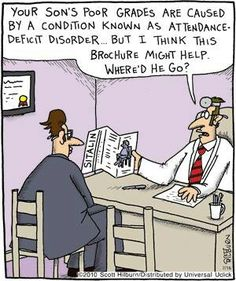 Argyle Sweater by Scott Hilburn-- Attendance woes; a medical solution