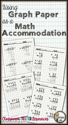 Using Graph Paper as a Math Accommodation