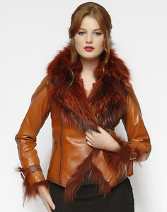 Women Leather Jacket %100 Real Leather Original Design Made in Turkey