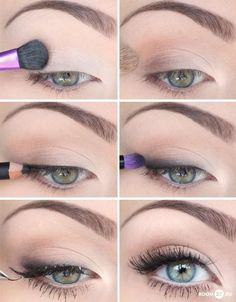 Subtle eye makeup