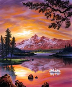 Together We Dream by Jon Rattenbury, a wall mural from Magic Murals. Thousands of customers around the world choose Magic Murals for premium murals. Simple Acrylic Paintings, Acrylic Art, Painting Inspiration, Art Inspo, Winter Painting, Beautiful Paintings, Landscape Paintings, Landscapes, Art Lessons