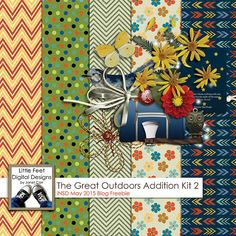 FREE The Great Outdoor Addition Kit by Little Feet Digital Scrapbook Designs by Janet Carr | Happy May 2015 iNSD Day [ blog freebie]