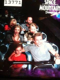 Derek with his family at Disneyland
